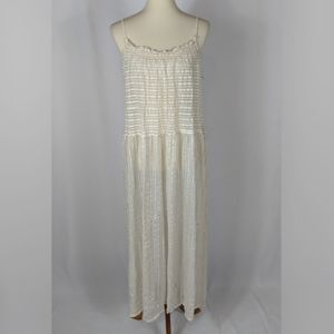 Casablanca Collections Vtg Striped Dress Nightgown
